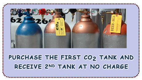 Purchase the first CO2 tank and receive 2nd tank at no charge